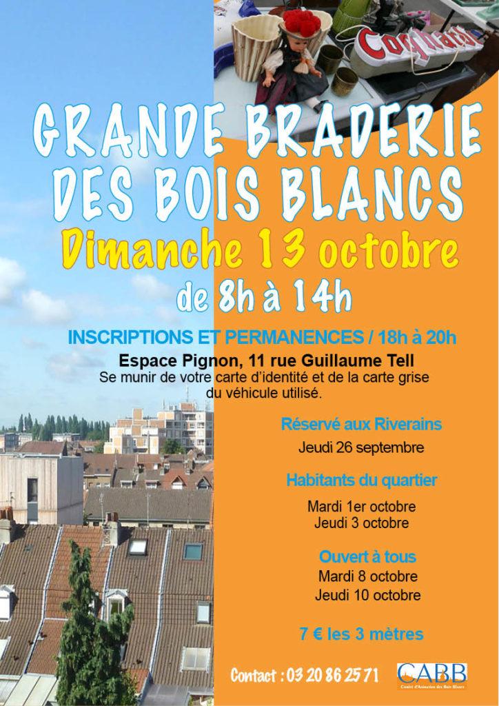 Affiche Grande Braderie des Bois Blancs