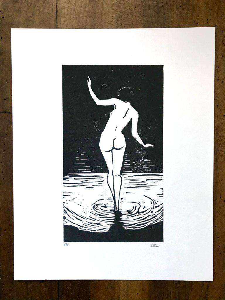 Bather- Estampe - Colin Bumac