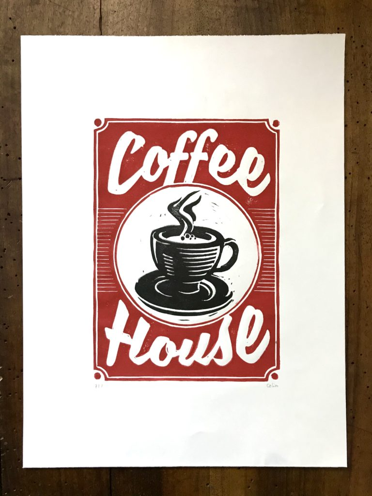 COFFE HOUSE - Bather- Estampe - Colin Bumac
